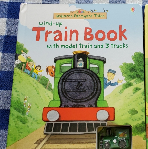 Kids Usborne train track book
